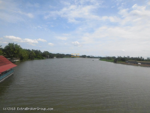 ที่ดินติดแม่น้ำใหญ่ เนื้อที่ 11 ไร่ สามพราน นครชัยศรี ฮวงจุ้ยดีหัวมังกร มีที่ดินงอก