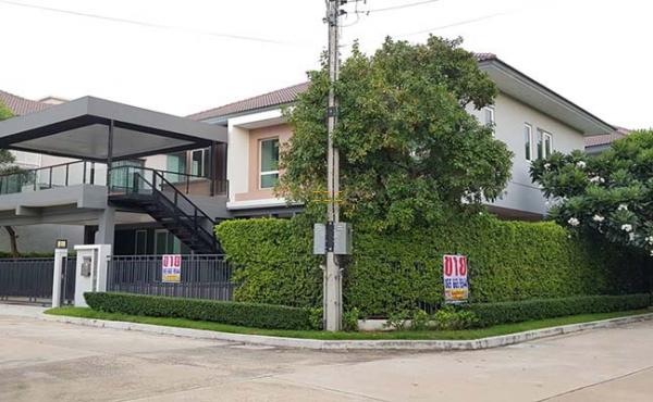 บ้านเดี่ยว 2 ชั้น 117 วา. หลังมุม เดอะแกรนด์ คอร์ทยาร์ด พระราม 2 แต่งหรู มีสระว่ายน้ำระบบเกลือในบ้าน