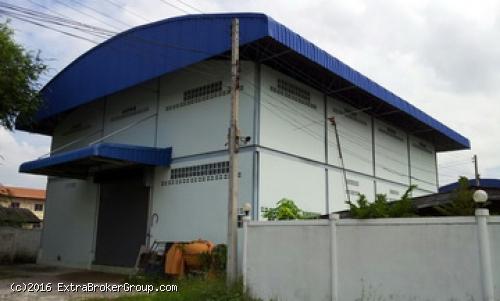 โรงงาน/โกดัง เนื้อที่ 1ไร่ 2 ชั้น พร้อมบ้านพัก  ทำงานต่อได้ทันที พร้อมใช้งาน